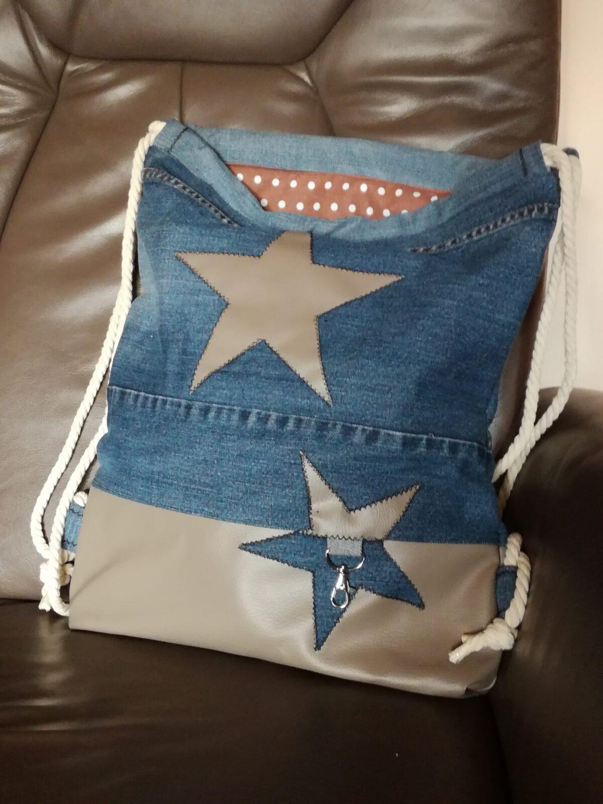 """""""mein"""" neuer Rucksack aus alter Jeans"""
